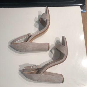 Steve Madden Shoes - steve madden nude suede carrson heels